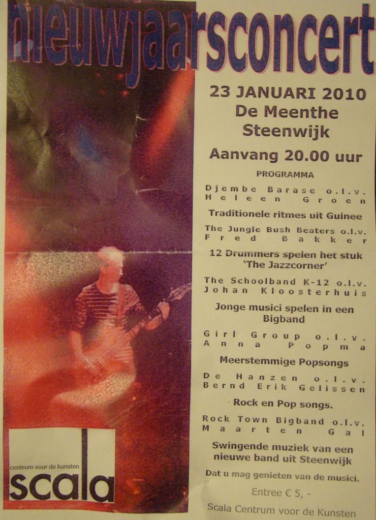 flyer nieuwjaarsconcert Scala 2010